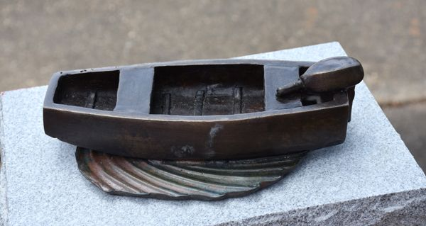 Bronze sculpture of a boat